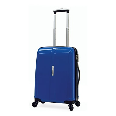 Shuttle - Valise rigide format cabine de 18 po expansible à roulettes pivotantes, bleu