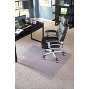 "ES Robbins Big and Tall Lipped Chair Mat, 45"" x 53"", Clear"
