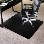 "ES Robbins Rectangle Chair Mat, Low Pile Carpet Application, 36"" x 48"", Black"