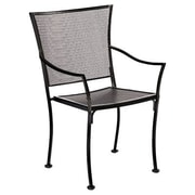 Woodard Amelie Stackable Bistro Dining Arm Chair; Graphite