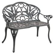 Innova Hearth and Home Tulip Cast Iron/Aluminum Garden Bench