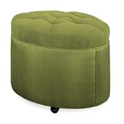 Tory Furniture Mondo 24'' Tufted Round Ottoman; Grass