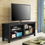 Home Loft Concepts Wood TV Stand; Black
