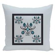 e by design Geometric Decorative Floor Pillow; Light Blue/Navy Blue