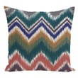 e by design Stripe Decorative Polyester Floor Pillow; Forest