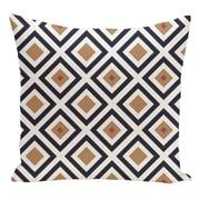 e by design Geometric Decorative Floor Pillow; Navy Blue/Brown