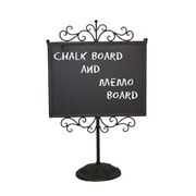 American Mercantile Marque Double Sided Free-Standing Chalkboard; 16'' H x 11.5'' W x 5.5'' D