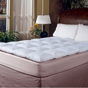 Blue Ridge Home Fashion 233 Thread Count Cotton Cover Featherbed Topper; Full