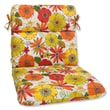 Pillow Perfect Rounded Corners Dining Chair Cushion; Margate Lily