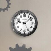 Westclox 7.75'' Round Translucent Wall Clock; Black
