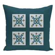 e by design Geometric Decorative Floor Pillow; Teal/Light Blue
