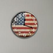 Westclox 12'' Round American Flag Wall Clock