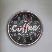 Westclox 12'' Round Fresh Brewed Coffee Wall Clock