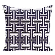 e by design Geometric Decorative Floor Pillow; Navy Blue