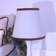 Brandee Danielle 8'' Cotton Empire Lamp Shade; Blue Gingham