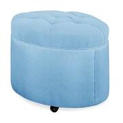Tory Furniture Mondo 24'' Tufted Round Ottoman; Sky