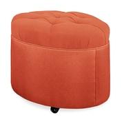 Tory Furniture Mondo 24'' Tufted Round Ottoman; Tangelo