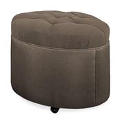 Tory Furniture Mondo 24'' Tufted Round Ottoman; Truffle