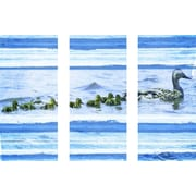 Marmont HIll Ducks on a Swim 3 Piece Art Print on Premium Canvas Set; 24'' H x 36'' W