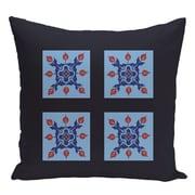 e by design Geometric Decorative Floor Pillow; Navy Blue/Blue