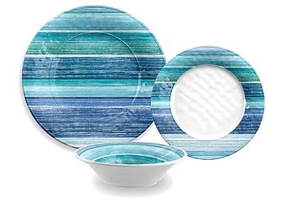 TarHong Sea Blues Melamine 12 Piece Dinnerware Set