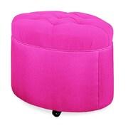 Tory Furniture Mondo 24'' Tufted Round Ottoman; Fuchsia