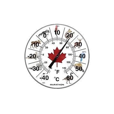 Marathon – Grand thermomètre intérieur/extérieur 12 po, animaux du Canada