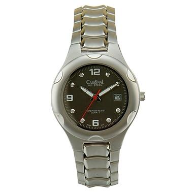 Cardinal 2884 Men's Analog Casual Watch, Steel Case and Bracelet