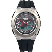 Cardinal 3086 Men's Ana-Digi Sport Watch, Black Silicone Strap