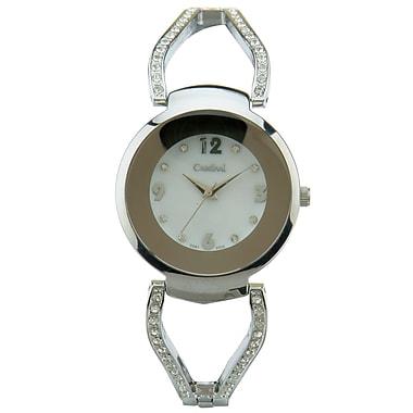 Cardinal 3091 Ladies' Crystal Boutique Dress Watch, Silver-Tone Bracelet