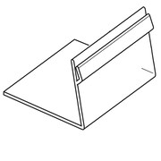 "FFR Merchandising Easel Card Holder, Clear PVC, 1""H x 2""W, One-Way, 700/Pack (2161459101)"