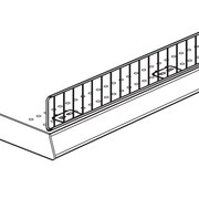 "FFR Merchandising Wire Front Fence, 3"" H x 48"" L, 6/Pack (4132046804)"