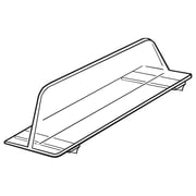 "FFR Merchandising Vacuum Formed Divider with Adhesive, 3""H x 10""L, PVC, Clear, 20/Pack (4134650302)"