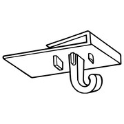 "FFR Merchandising 2277 Ceiling Grid Hook, 3/4"" W x 1 1/8"" L, 200/Pack (6408135900)"