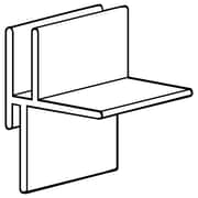 "FFR Merchandising Corr-A-Clip® Shelf Supports Without Adhesive, CC100, 1/4"" Single, 80/Pack (8200735101)"