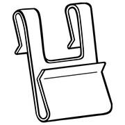 "FFR Merchandising Warehouse Power Wing Clip™, Metal, 1 1/2"" L x 2 3/8"" H, 48/Pack (8304960000)"