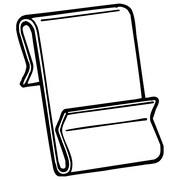 "FFR Merchandising WCM-2 Metal Power Wing Clip™, 1"" L x 1 3/4"" H, 150/Pack (8307842300)"