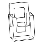"FFR Merchandising Styrene V-4 Vision Literature Holder with Adhesive, Wall-Mount for 4"" Literature, 10/Pack (9301825903)"