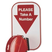 FFR Merchandising Turn-O-Matic Take-A-Number System, 'Please Take A Number' Sign, 4/Pack (9920816708)