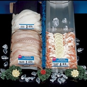 "FFR Merchandising Stainless Steel Reversible Seafood Trays, 6""W x 30""L, w/o End Stops, 5 Slots, 2/Pack (9922815323)"