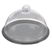 "FFR Merchandising 2-Piece Sampling Units, 7"" dia, Black Tray/Clear Dome (9923910000)"