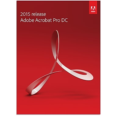 Adobe® Acrobat Pro DC 2015 Retail Edition for Windows, 1 User, French