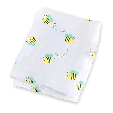 Lulujo Swaddling Blanket, Bumbling Bee