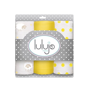 Lulujo Mini Muslin Cotton Cloths, Sunshine Yellow