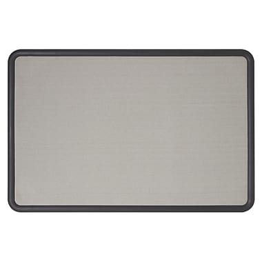 Quartet® Contour® Fabric Bulletin Boards, Grey Fabric with Black Frame, 36