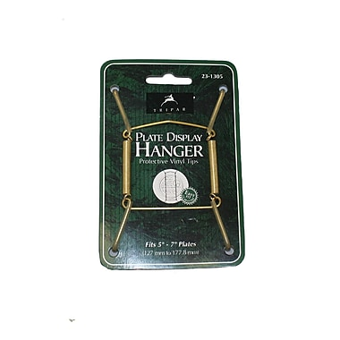 Tripar International Wire Plate Hangers, Brass Finish, 7