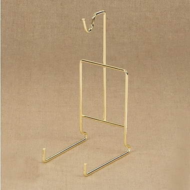 Tripar International Wire Plate Hangers, Brass Finish, 10
