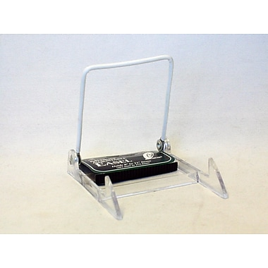 Tripar International Acrylic Base with White Vinyl Wire Display Stand, Medium, Clear