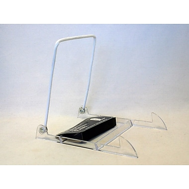 Tripar International Acrylic Base with White Vinyl Wire Display Stands, Clear