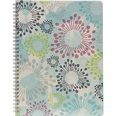 Hilroy – Cahier Lovely Floral Glitter, 10 1/2 po x 8 po, 80 pages, motifs variés